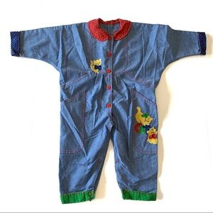 Other - Vintage Retro Jumpsuit Romper Cats 80s 90s Style